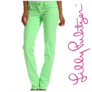 {BOGO} Lilly Pulitzer Worth Straight Green Jeans